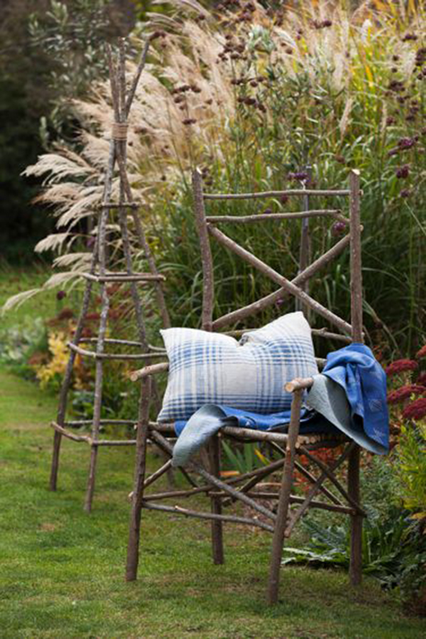 Oneof Kate's willow work chairs. Photo: supplied.